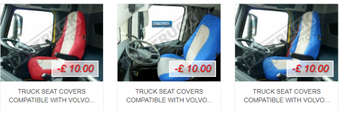 Special offer – Truck seat covers compatible with Volvo