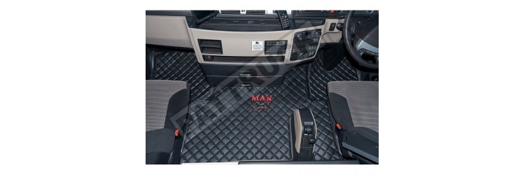 MAN eco leather floor set BLACK - for good price